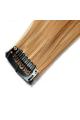 Mèche extension à clips 3 clips 55cm Couleur #14 - Blond foncé