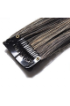 Mèche extension à clips 2 clips 55cm Couleur #1B/27 - Brun méché châtain/blond