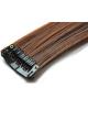 Mèche extension à clips 2 clips 55cm Couleur #1B/30 - Brun méché cuivre