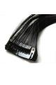 Mèche extension à clips 2 clips 55cm Couleur #1B - Brun ténèbres