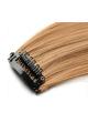 Mèche extension à clips 2 clips 55cm Couleur #22 - Blond moyen/clair