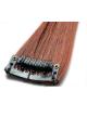 Mèche extension à clips 3 clips 55cm Couleur #30 - Châtain cuivre doux
