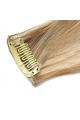 Mèche extension à clips 3 clips 55cm Couleur #6/613 - Châtain clair méché blond