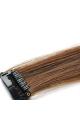 Mèche extension à clips 2 clips 55cm Couleur #8 - Chocolat