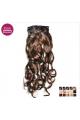 Kit 10 bandes extensions de cheveux à clip synthétiques Luxe bouclé 55cm