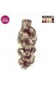 Kit 7 bandes extensions de cheveux à clip synthétiques aspect naturel bouclé 70cm