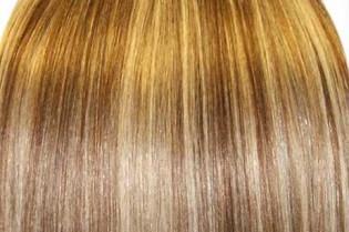 KitQueen Lisse 40cm Couleur #6/613 - Châtain clair méché blond 903-6/613-40