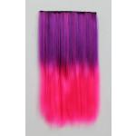 Extension Gardien Color 5 clips 55cm Couleur #B24 - Violet méché Rose / Rose 802-B24-50