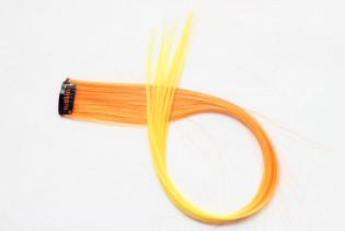 Extension Gardien Color 2 clips 55cm Couleur #B12 - Orange / Jaune 801-B12-50