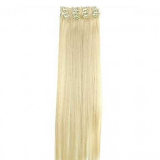 Kit extension à clips Lisse 55cm Couleur #613 - Blond platine 900-613-55