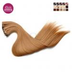 Kit 7 bandes extensions de cheveux à clip synthétiques aspect naturel lisse 45cm MV900-45