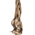 Kit extension à clips Ondulé 70cm Couleur #4/613 - Châtain foncé méché blond clair 901-4/613-70