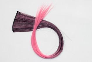 Extension Gardien Color 5 clips 55cm Couleur #B27 - Châtain méché Rose / Rose 802-B27-50