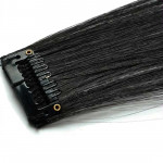 Mèche extension à clips 1 clip 55cm Couleur #2 - Noir Brun 800-2-55