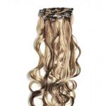 Kit extension à clips Bouclé 55cm Couleur #4/613 - Châtain foncé méché blond clair 902-4/613-55