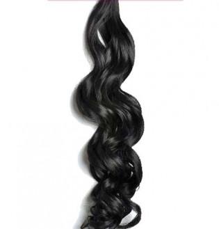 Tissage Ondulé 60cm Couleur #1B - Noir ténèbres HW01-1B-60