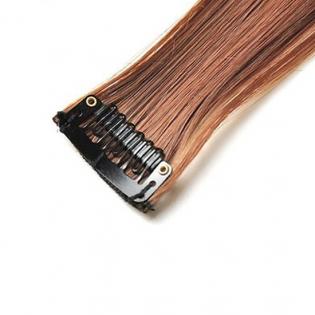 Mèche extension à clips 3 clips 55cm Couleur #4/30 - Châtain méché cuivre 804-4/30-55