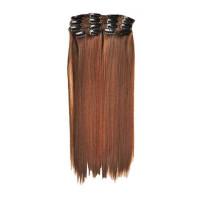 Kit extension à clips Lisse 55cm Couleur #4/30 - Châtain méché cuivre 900-4/30-55