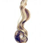 Kit extension à clips Ondulé 70cm Couleur #4/24 - Châtain méché blond 901-4/24-70
