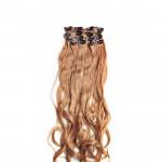 Kit extension à clips Ondulé 55cm Couleur #27 - Blond moyen 901-27-55