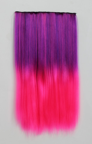Extension Gardien Color 5 clips 55cm Couleur #B24 - Violet méché Rose / Rose 802-B24-50