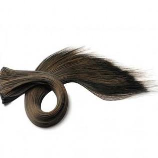 Kit extension à clips Lisse 45cm Couleur #1B/6 - Brun méché châtain 900-1B/6-45