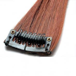 Mèche extension à clips 1 clip 55cm Couleur #30 - Châtain cuivre doux 800-30-55