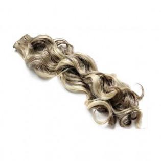 Kit extension à clips Bouclé 45cm Couleur #4/613 - Châtain foncé méché blond clair 902-4/613-45