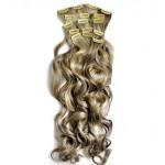 Kit extension à clips Bouclé 70cm Couleur #4/613 - Châtain foncé méché blond clair 902-4/613-70