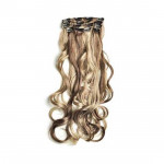 Kit extension à clips Ondulé 55cm Couleur #4/613 - Châtain foncé méché blond clair 901-4/613-55