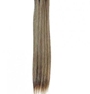 Kit extension à clips Lisse 70cm Couleur #4/613 - Châtain foncé méché blond clair 900-4/613-70