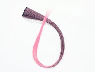 Extension Gardien Color 2 clips 55cm Couleur #B27 - Châtain méché Rose / Rose 801-B27-50