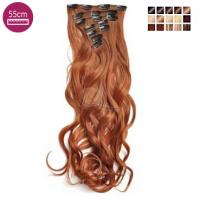 Kit 10 bandes extensions de cheveux à clip synthétiques Luxe ondulé 55cm 101-4/613-55