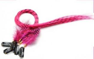 Extension plume 35 Couleur Rose bonbon FE-ROSEO-40