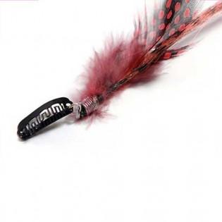 Extension plume 35cm Couleur Rouge FE-RE-40