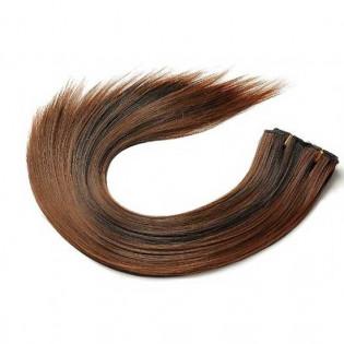Kit extension à clips Lisse 45cm Couleur #1B/30 - Brun méché cuivre 900-1B/30-45