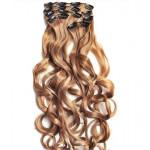 Kit extension à clips Bouclé 55cm Couleur #14 - Blond foncé 902-14-55