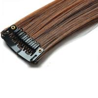 Mèche extension à clips 1 clip 55cm Couleur #1B/30 - Brun méché cuivre 800-1B/30-55