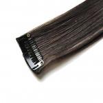 Mèche extension à clips 2 clips 55cm Couleur #2 - Noir Brun 801-2-55