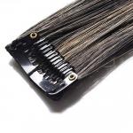 Mèche extension à clips 2 clips 55cm Couleur #1B/27 - Brun méché châtain/blond 801-1B/27-55