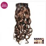 Kit 10 bandes extensions de cheveux à clip synthétiques Luxe bouclé 55cm 102-55