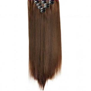 Kit extension à clips Lisse 55cm Couleur #8 - Chocolat 900-8-55