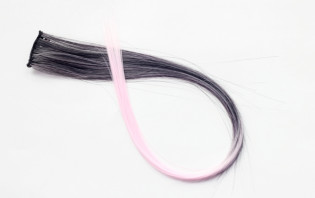 Extension Gardien Color 2 clips 55cm Couleur #B21 - Brun méché Rose / Rose clair 801-B21-50