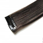 Mèche extension à clips 1 clip 55cm Couleur #4 - Châtain foncé 800-4-55