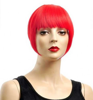 Frange à clips 15cm Couleur #Rouge 803-RED