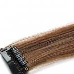 Mèche extension à clips 2 clips 55cm Couleur #8 - Chocolat 801-8-55