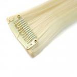 Mèche extension à clips 3 clips 55cm Couleur #613 - Blond platine 804-613-55