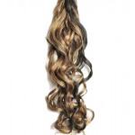 Kit extension à clips Bouclé 70cm Couleur #1B/27 - Brun méché châtain/blond 902-1B/27-70