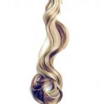 Kit extension à clips Ondulé 55cm Couleur #4/24 - Châtain méché blond 901-4/24-55