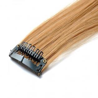 Mèche extension à clips 3 clips 55cm Couleur #16 - Châtain noisette 804-16-55